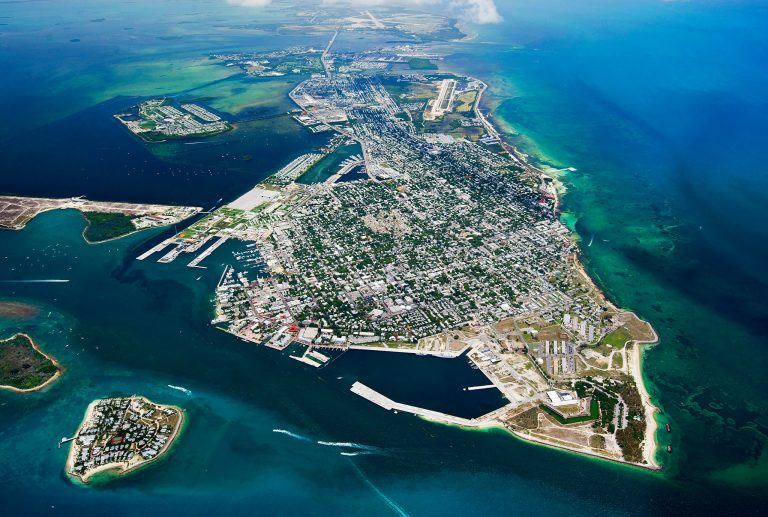 aerial view of Key West, FL