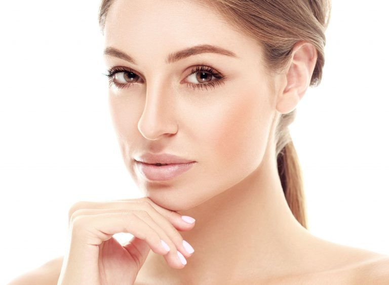 woman with flawlessly smooth face