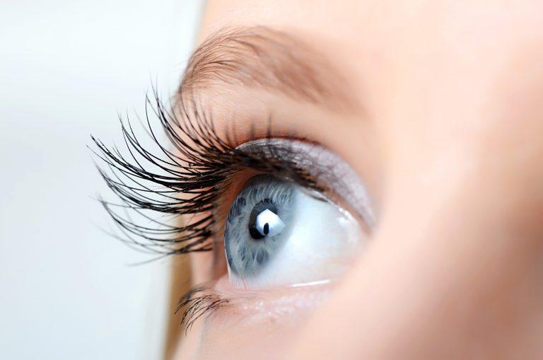 long, thick eyelashes