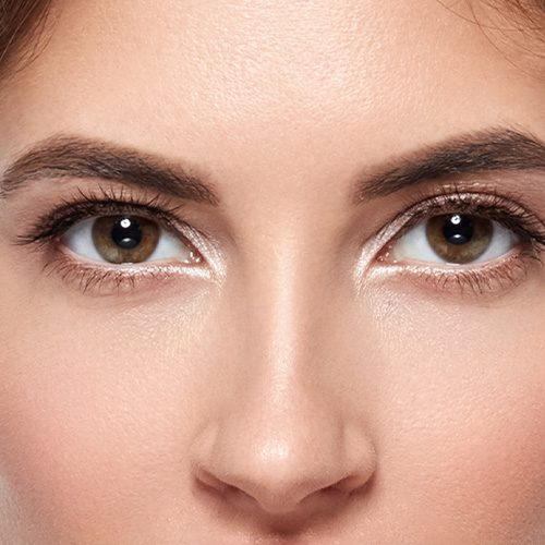 smooth , flawless face with Latisse